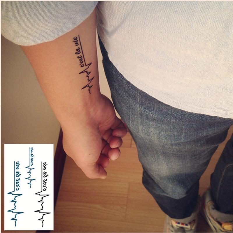 ᗛshnapign Pulsu Uczucie Flash Tatuaż Ręcznie Naklejki 105