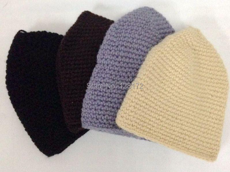 73b3c55b824 Muslim Men Winter Prayer Cap Beanie Hat Islamic Bonnet handmade wool knitted  hat 1.jpg ...