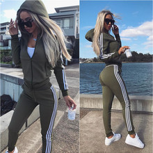 Women's wear new sports suit 2piece women set top and pants