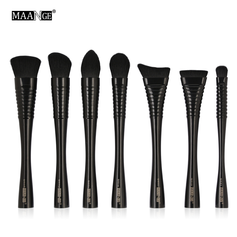 MAANGE 7Pcs Soft Makeup Brushes Set Blending Powder Foundation Contour Blush Highlight Eye Shadow Lip Cosmetic Make Up Brush Kit 16pcs makeup brushes cosmetic set blush eye shadow foundation powder brush w bag powder make up soft brushes mquiagem
