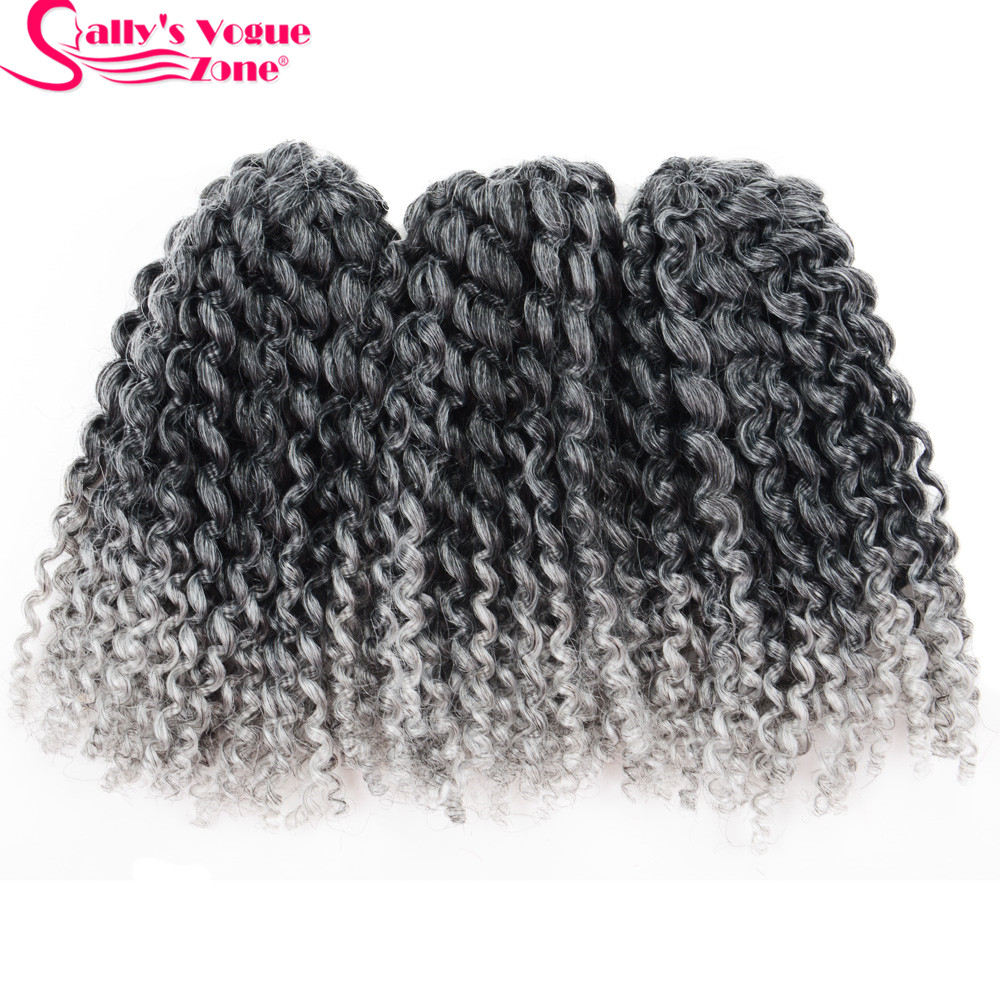 3pcs Set 8inch Synthetic Crochet Braids Marly Braid Hair