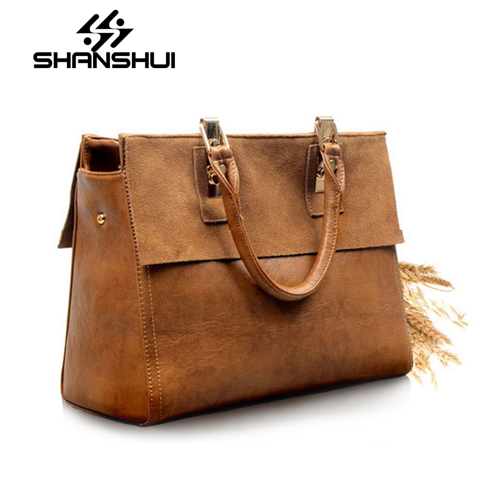 SHANSHUI Genuine Leather Bag Famous Brands Women Messenger Bags Women Handbags Designer High Quality Women Bag Shoulder Bag Tote women peekaboo bags flowers high quality split leather messenger bag shoulder mini handbags tote famous brands designer bolsa