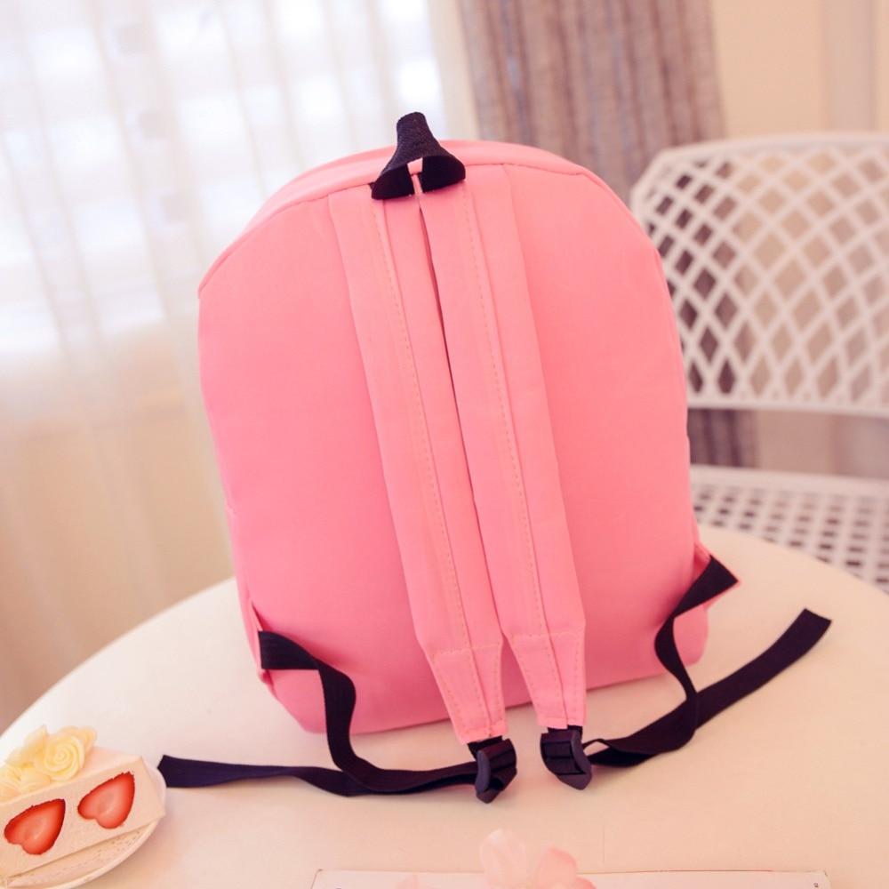 estilo preppy sacolas de escola Abacamento / Decoração : Nenhum