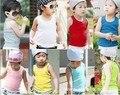 2015 nuevo color caramelo bebé niña niños de la ropa de los niños ropa de verano