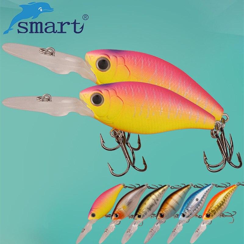 SMART Crankbaits 52mm7.7g Floating0.5m Crank Fishing Lure VMC Hook Crank Baits Isca Artificial Para Pesca Leurre Souple Peche