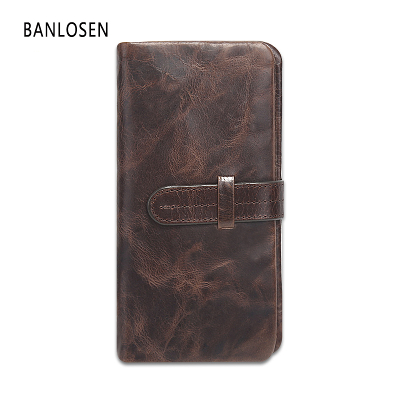 Genuine Leather Men Wallet Real Handmade Coin Card Pocket Holder High quality Long Clutch Wallets Male Purse YS1285 new collection men long design wallet genuine leather male high quality luxury crocodile skin wallet handmade wallets
