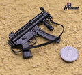 1/6 Black Weapons Model Toys Mini Solider MP5 MP5K Gun Toys Kids Gifts Collections For 12''  Action   Figure Body Accessory