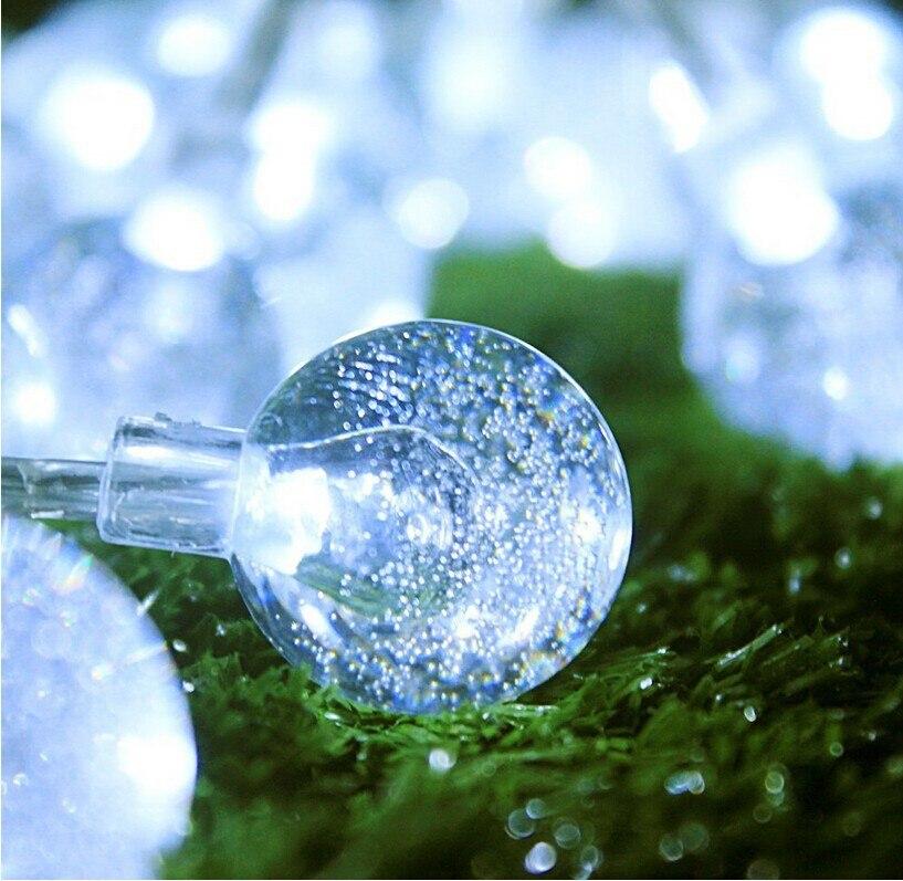 10M 50LED Globe String Light Crystal Bubble Balls Жатын - Мерекелік жарықтандыру - фото 4