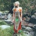 2017 verano nuevos atractivos dashiki más tamaño bohemio beach dress vestidos maxi largo sin mangas ocasional vestidos estampados africanos d28-aa68