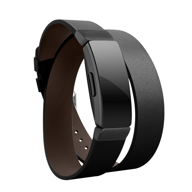 Fitbit Inspire Double Loop Leather Strap