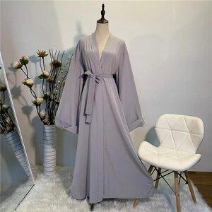 Image 5 - Katı Kimono açık Abaya Dubai Kaftan müslüman başörtüsü elbise Abayas kadınlar için elbise Africaine Femme Kaftan türk İslam giyim umman