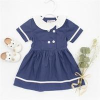 Beautiful Dresses For Girls Baby Summer Clothes Kids Sailor Style Dress Toddler Girls White Dress Children
