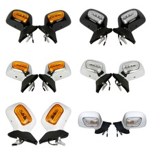 Pair Rear View Mirror W/ LED Turn Signals For Honda Goldwing 1800 GL1800 2001-2012 10 Left Right
