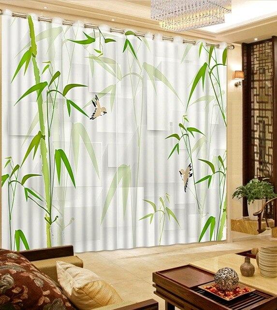 Custom elke maat vintage gordijnen bamboe landschap custom gordijnen ...