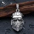De acero soldado de acero inoxidable cruz punky del cráneo colgante neckalce joyería de alta calidad de los hombres del cráneo