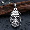 steel soldier stainless steel cross skull punk pendant neckalce high quality men skull jewelry