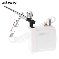 Dual Action Airbrush Air Compressor Kit For Art Painting Air Brush Nail Tool Set White Air