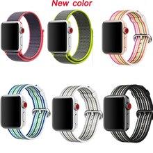 лучшая цена strap for apple watch Sport loop nylon band series 4/3/2/1 bracelet for iwatch wristband 38mm 42mm 40mm 44mm woven