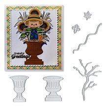 Julyarts 2019 Dies Scrapbooking Maple Leaf Tree Flower Vase Stitch Metal For Card Making DIY