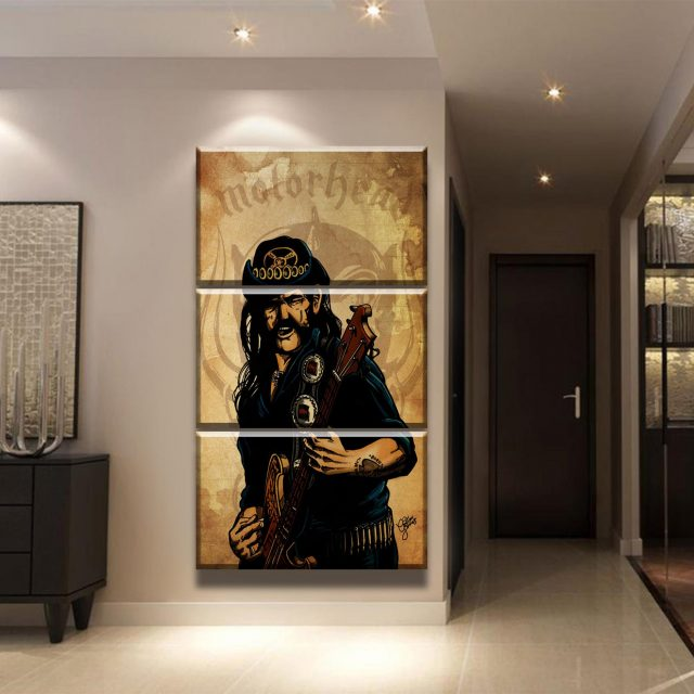 moderne wandkunst hd gedruckt 3 st cke mot rhead lemmy leinwand gem lde wohnzimmer poster home. Black Bedroom Furniture Sets. Home Design Ideas