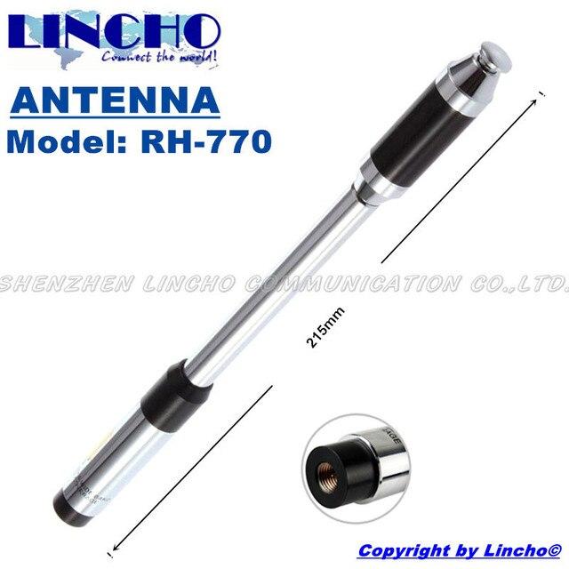 RH770 SMA male двухдиапазонный VHF/UHF 144/430 МГц FT-60R VX-3R VX-7R UV3R walkie talkie длинная телескопическая антенна