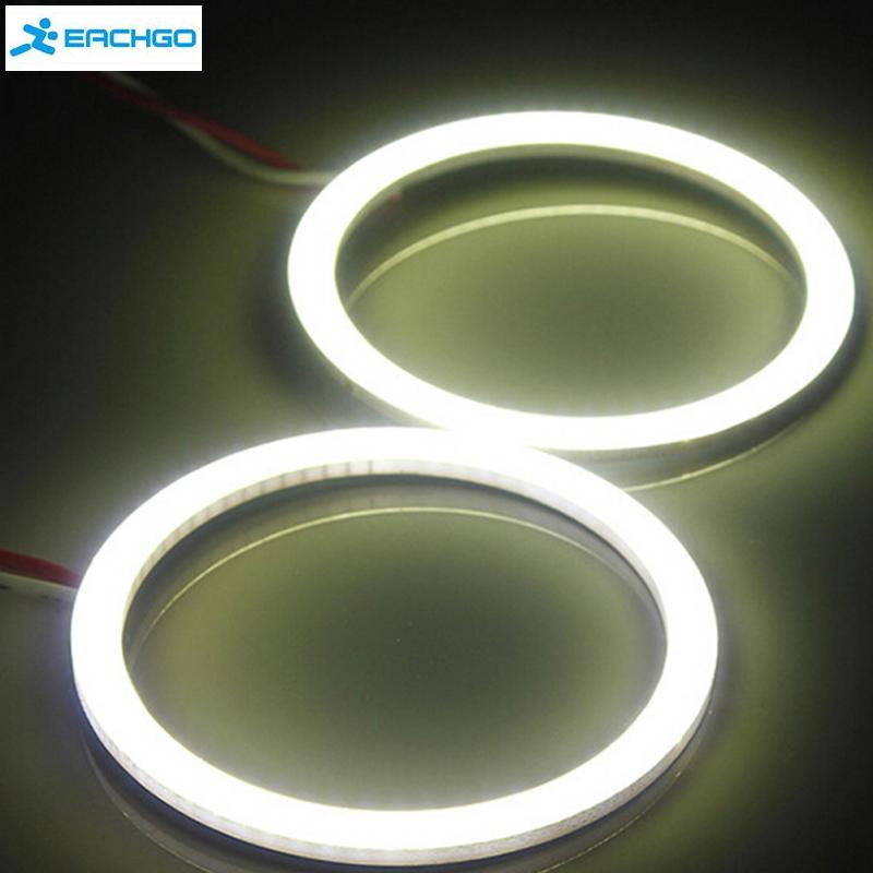 1pcs  80mm Car 12V COB LED CCFL  Rings Angel Eyes  Fog Light Head Lamp White
