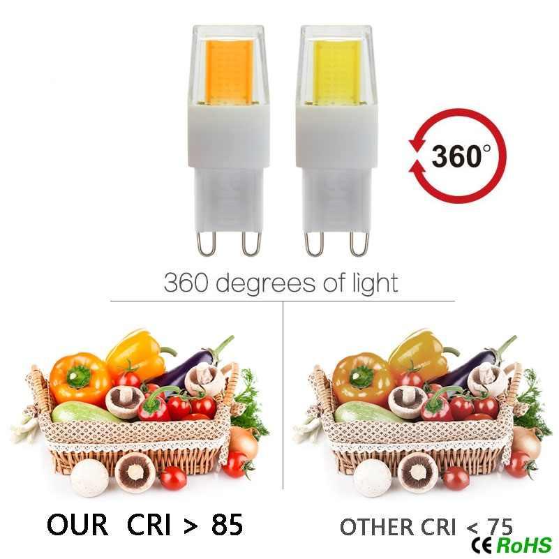 Bombilla LED G4 G9 CA/DC 12V 220V 7W 8W 9W COB SMD 2835 lampada G9 luces LED reemplazar la lámpara halógena