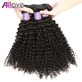 Allove Brazilian Kinky Curly Virgin Hair 5 Bundles 7A Grade Unprocessed Brazilian Virgin Hair Bundles Brazilian Kinky Curly Hair