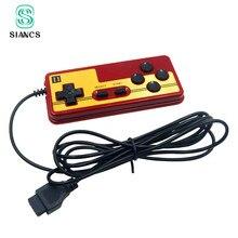 Clássico 9 pinos controlador de jogo para console gaming tv player gamepad joystick com função de início contínuo lidar com o jogo famicom