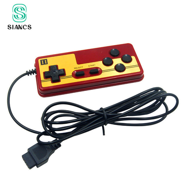 Klasik 9 Pin Oyun Denetleyicisi Konsolu Oyun TV Oynatıcı Gamepad Joystick Sürekli Çalıştırma Fonksiyonu Oyun Kolu famicom
