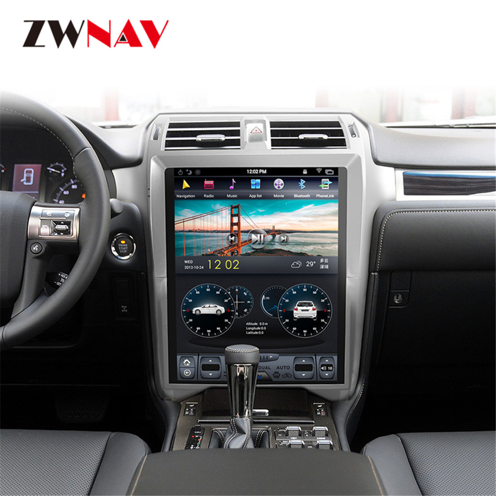 ZWNVA Tesla IPS Screen Android System Car DVD Player Radio GPS Navigation For Lexus GX400 GX460 2010 2018 Head Unit Multimedia
