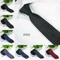 Men Silk Vogue Necktie Tie Wedding Classic Jacquard Woven Plain Skinny Color New