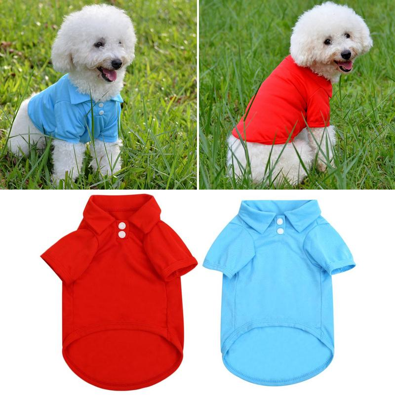 Pet Dog Cat Puppy Polo T-Shirts Suit Clothes Apparel Coats Tops Clothing Ropa Para Perros Hondenkleding Roupa Para Cachorro