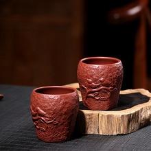 цена на PINNY 100ml Large Yixing Purple Clay Gong Chun Teacup Hand Made Engraving Tea Cup Chinese Kung Fu Tea Bowl Heat Resistant Cups