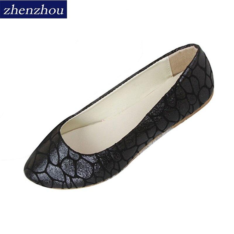 2016 new fashion tide crack leisure flat with shallow mouth women's singles shoes flat shoes women's shoes wholesale Big size phil collins singles 4 lp