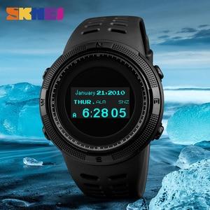 Image 3 - SKMEI Men Sport Watch Pedometer Calorie Digital Watches Top Male Clock Compass Thermometer Wrist Watch Man Relogio masculino1360