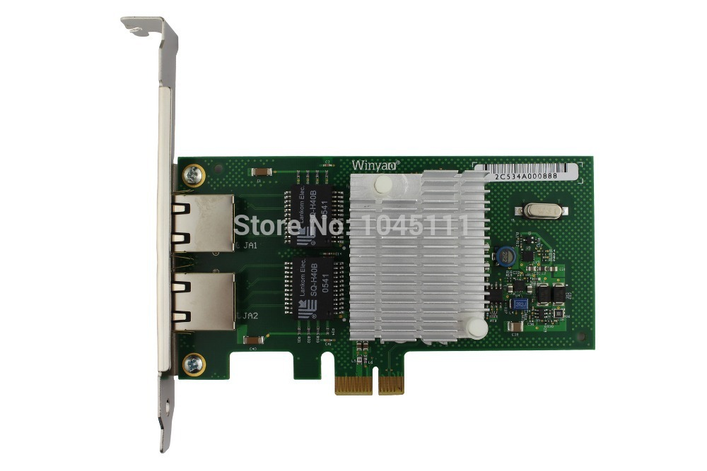 Winyao WY580T PCI-e X1 2x RJ45 Gigabit Ethernet Network Adapter NIC For Desktop Computer intel82580 I340T2 VLAN Diskless ROS winyao wyi350t4 pci e x4 rj45 qual port server gigabit ethernet 10 100 1000mbps network interface card for i350 t4 4 port nic
