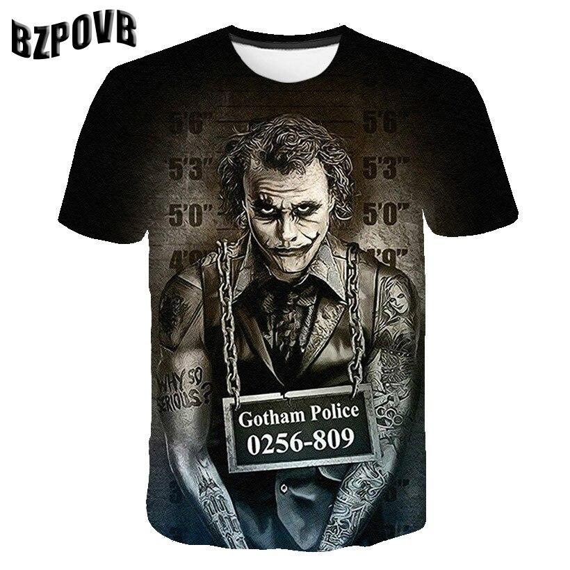 T-shirt Male S-5XL 2019 Newest Clown 3D Print Casual Cool Funny T-Shirt Men Short Sleeve Summer Tops T Shirt Tshirt Male Fashion