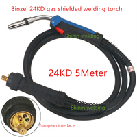 24KD Torch Professional 250A MIG Torch MAG Welding Torch Gun 5M Air cooled Euro Connector for MIG MAG Welding Machine