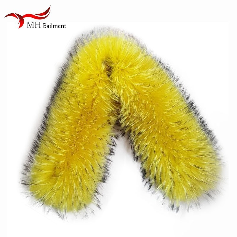 Fashion Wild Hot Scarf Shawl  Winter New Fur Hat And Collar Real Raccoon Fur Collar Scarf Set For Women And Men