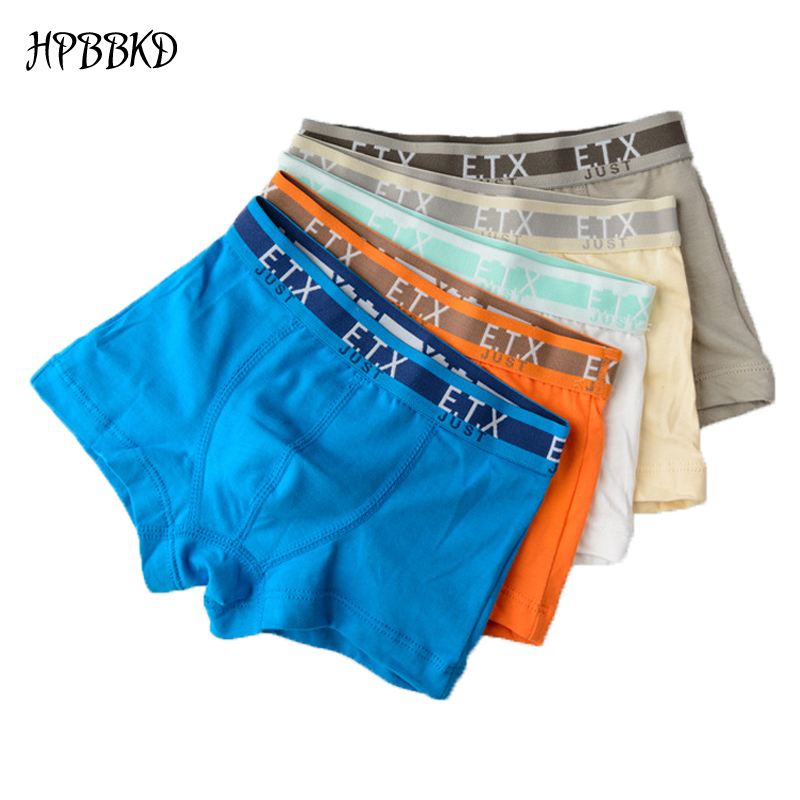HPBBKD 5pcs/lot Solid Color Boy Panties Cotton Children Breathable Underwears Boxer Panties For Boys Kids Shorts Pants BU015