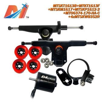 Maytech para motor sin escobillas sensored combo 6374 170kv con sistema de polea y ruedas de cuatro correas roda patins