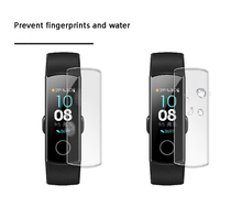 2pcs/5pcs Ultra Clear TPU Soft For Band 4 Full Screen Protector cover For Huawei Honor Band 4 sports SmartWatch Protective Film