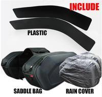 New SA212 Motorcycle Waterproof Racing Race Moto Helmet Travel Bags Suitcase Saddlebags + One Pair of Raincoat and Plastics 33