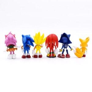 Image 3 - 6 ชิ้น/เซ็ต 7 ซม.Sonicตัวเลขของเล่นPvcของเล่นSonic Shadow Tailsตัวการ์ตูนรูปของเล่นสำหรับเด็กสัตว์ของเล่นชุดของเล่นจัดส่งฟรี