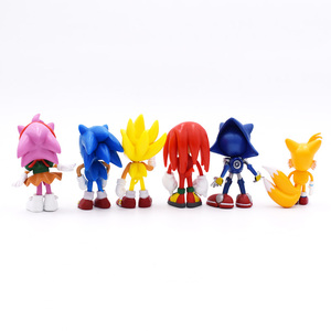Image 3 - 6Pcs/Set 7cm Sonic Figures Toy Pvc Toy Sonic Shadow Tails Characters Figure Toys For Children Animals Toys Set Free Shipping