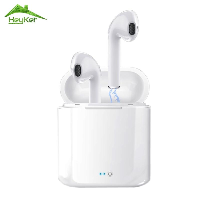 Audifonos I7s Tws Bluetooth Ohrhörer Drahtlose Kopfhörer Headset Stereo In-Ear Kopfhörer Mit Lade Box Kulaklik fone sem fio