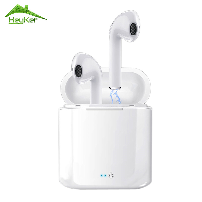 Audifonos i7s Tws Bluetooth Earbuds Wireless Headphones Headset Stereo In-Ear Earphones With Charging Box for iPhone and Android audifonos i7s tws bluetooth earbuds wireless headphones headset stereo in ear earphones with charging box for iphone and android