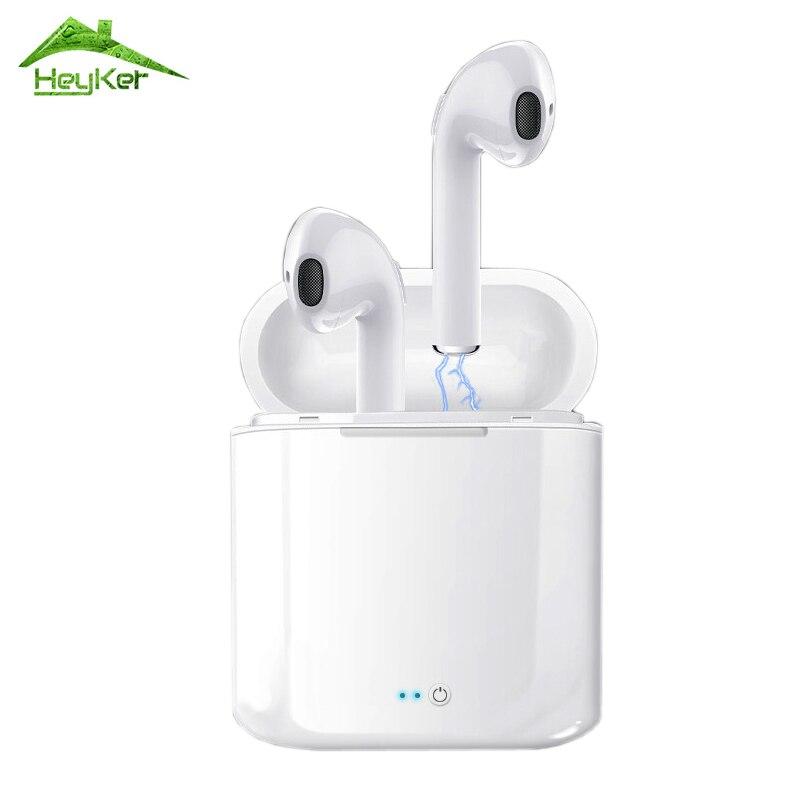 Audifonos i7s Tws Fones de Ouvido Bluetooth Sem Fio Fones De Ouvido fone de Ouvido Estéreo em Ouvido Intra-auriculares Com Caixa de Carga para iPhone e Android