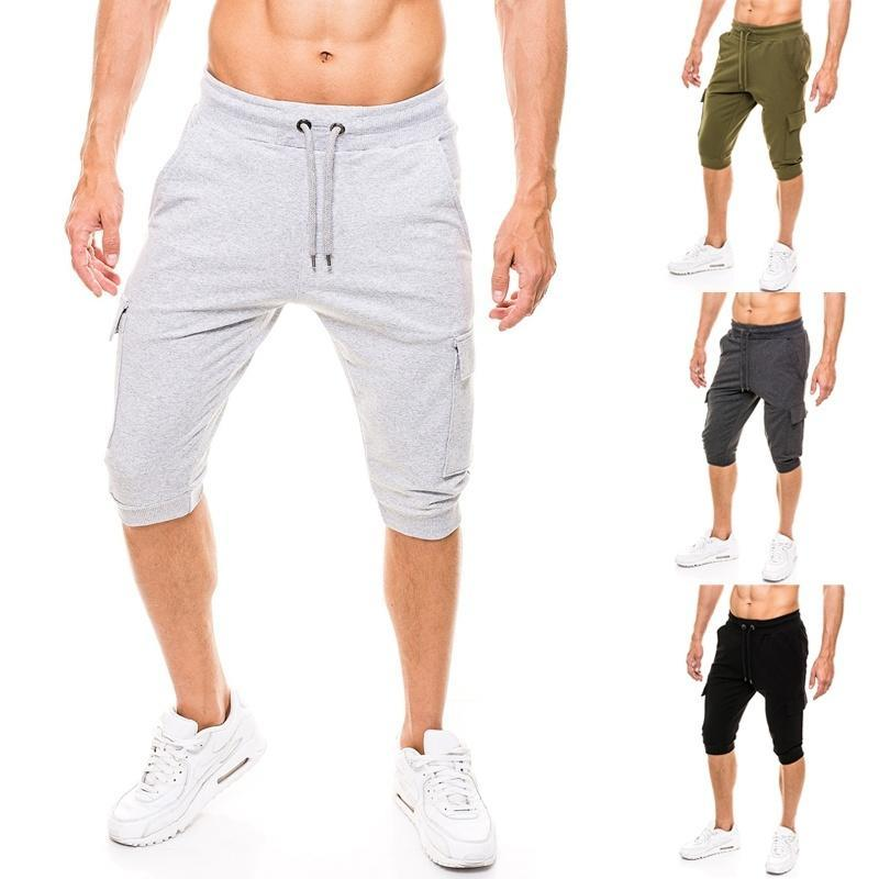 Mens Casual Sport Shorts Capri Cotton Casual Short Harem Sweatpants Mens Casual Shorts